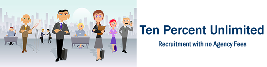 TenPercent Unlimited Legal Recruitment - recruit law staff for legal jobs without agency fees.